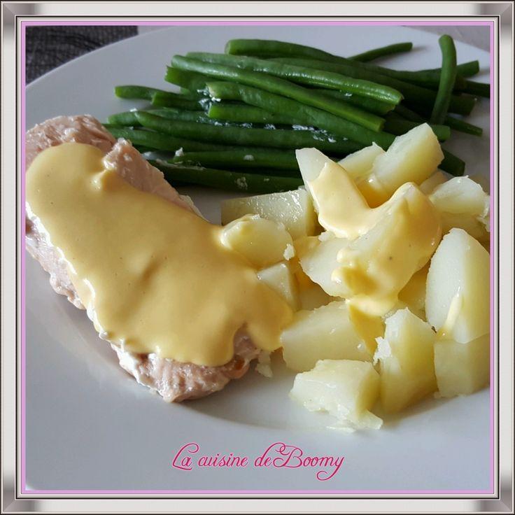 Saumon, pommes de terre, haricots verts sauce hollandaise (I-Cook'in)