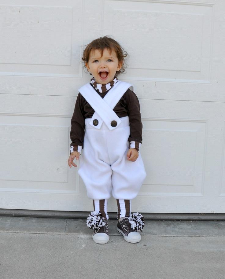 Oompa Loompa Inspired Costume Boy Kids Children Toddlers