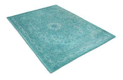Design Tabriz  Aqua Material: 100 % Katoen Poolhoogte: ca. 4 mm Gewicht: ca. 1.2 kg/m²
