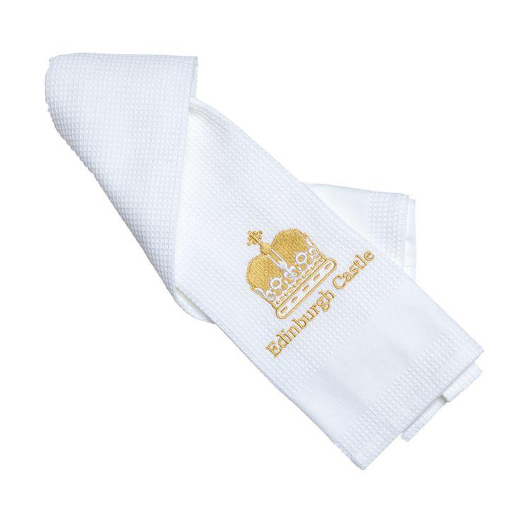 Edinburgh Castle tea towel - gold waffle #ShopHistory