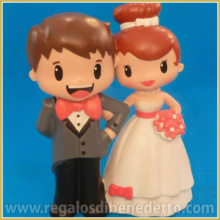 Figura para #Tarta de #Bodas. Pareja de #novios de pie, enlazados del brazo. #CakeToppers for #Weddings