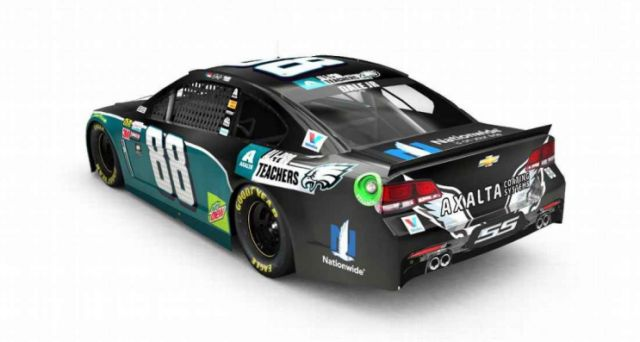The Dale Earnhardt Jr. Eagles car that will never be. (Courtesy Hendrick Motorsports)   Dale Earnhardt Jr., Redskins fan, won't drive an Eagles-themed car after all