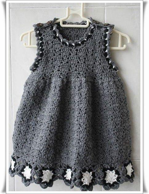 Örgü Renkli Bebek Elbise Modelleri13