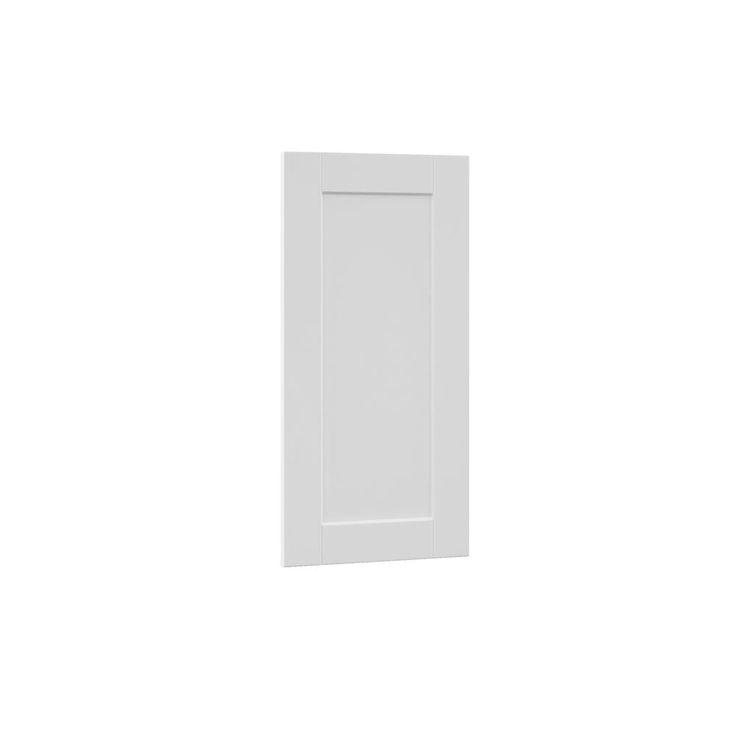 15x29.375x0.625 in. Shaker Decorative End Panel in Satin White