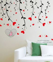 Syga Red Love Wall Sticker