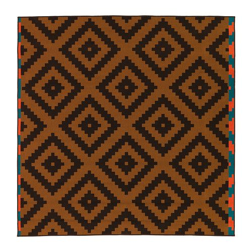 LAPPLJUNG RUTA Rug, low pile - orange/brown - IKEA