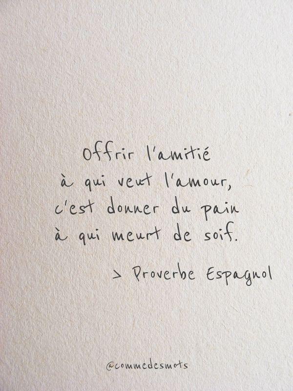 Offrir L Amitie A Qui Veut L Amour Belles Citations Citation
