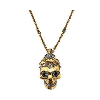 ALEXANDER MCQUEEN, Ожерелье, Колье с кристаллами и черепом в викторианском стиле