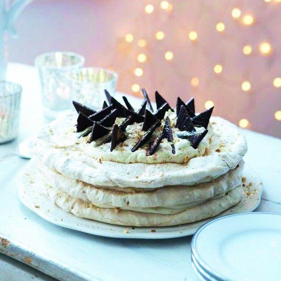 Nut Meringue Cake with Baileys Cream