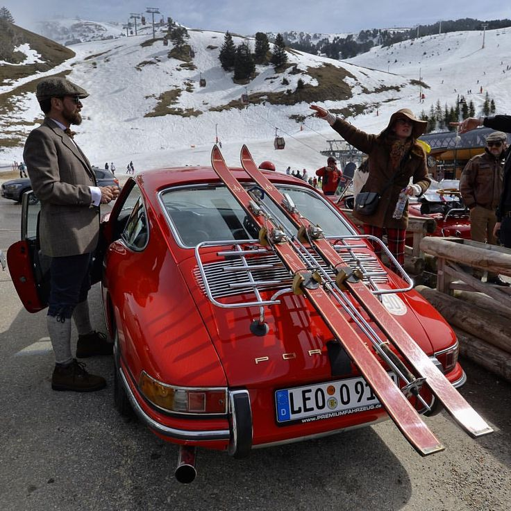 """2,989 Likes, 44 Comments - Monaco (@balco.classics) on Instagram: """" Ski & Vintage Perfect classic car to go skiing with class """""""