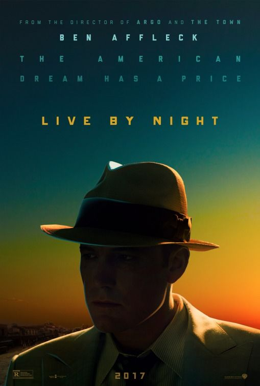 LIVE BY NIGHT – Rated R – 2 hours 8 mins. Starring Ben Affleck, Elle Fanning, Brendan Gleeson, Chris Messina, Sienna Miller and Zoe Saldana Based on the novel by Dennis Lehane and brought to life b…