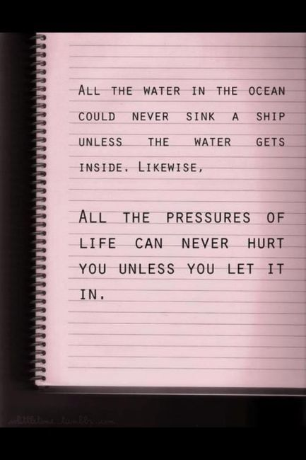 Unless you let the water in