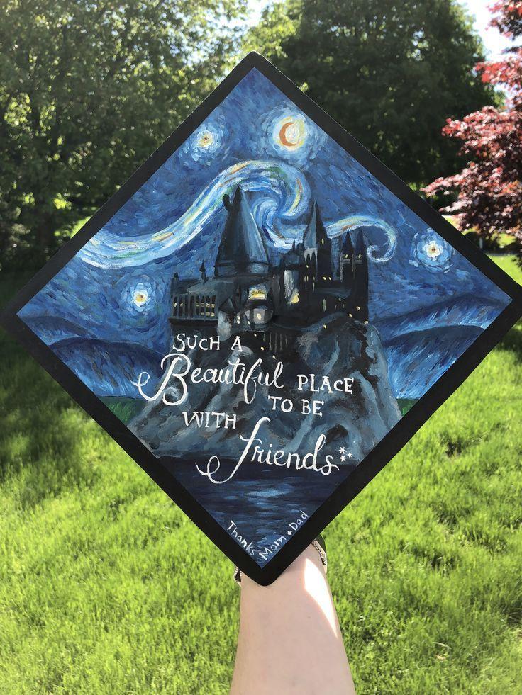 Harry Potter Abschlusskappe #gradcap #diy #painting #harrypotter
