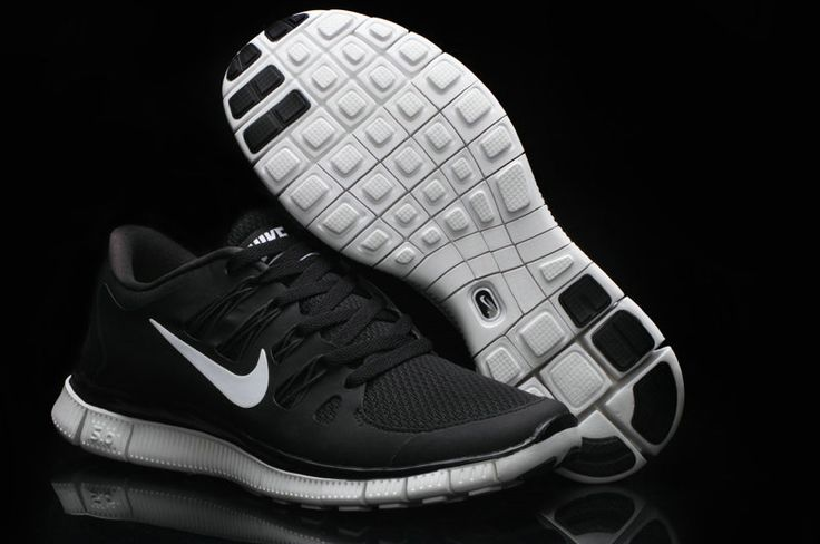 nike free 5.0 black and white womens