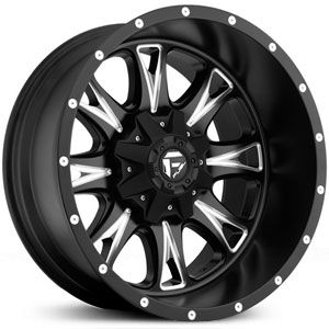 Fuel Throttle D513 Matte Black and Milled Wheels & Rims (Deep Lip)