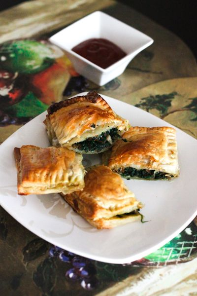 Spinach Mushroom & Cheese Puff Pastry Recipe   Puff Pastry Recipes ...