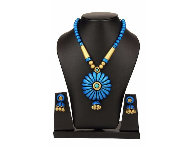 Sudhacreations Terracotta Necklace set - SU452 - AB23900006