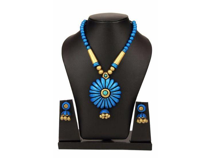 Sudhacreations Terracotta Necklace set - SU452 - AB23900006