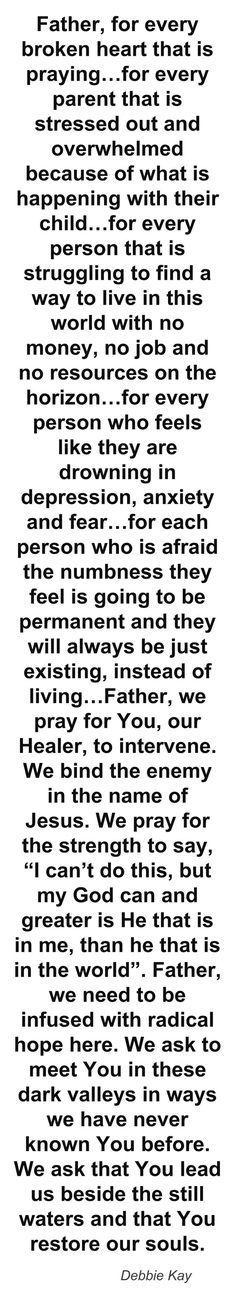 Prayer for the broken hearted!