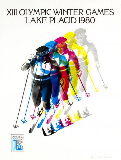 Poster, Winter Olympics, 1980, Lake Placid, New York.