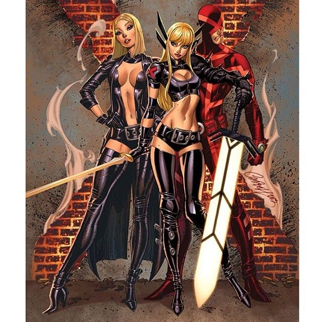 Uncanny X Men 19 Cover With Stellar Coloring By Neiruffino Xmen Jscottcampbell Marvel Magik Emmafrost Cyclops