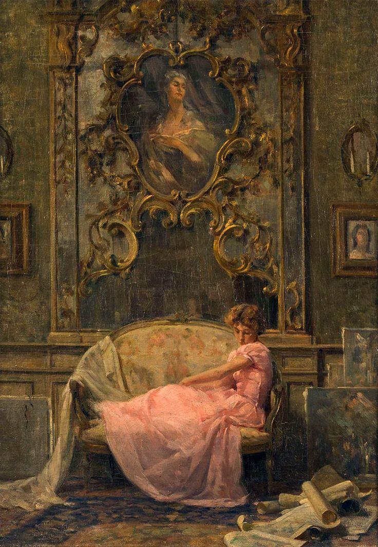 Beauty of old things and mystery of life. — loumargi: Ottavio Mazzonis – Vestito rosa (1949)