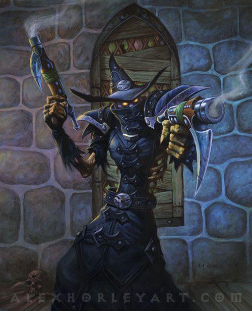 jeu vidéo : Warcraft / Lord Godfrey - Level 1 / illustration by Alex Horley http://www.blizz-art.com/illustration/351/