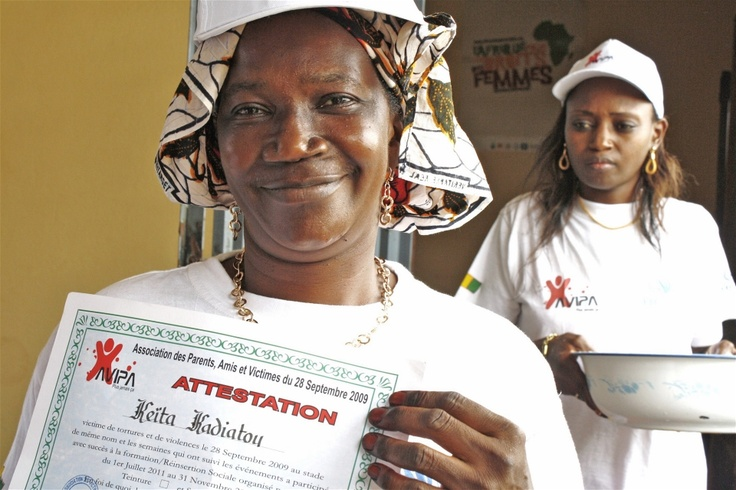 In August, women received diplomas for completing the training. The ceremony was held at the offices of AVIPA, a local association for survivors and their families
