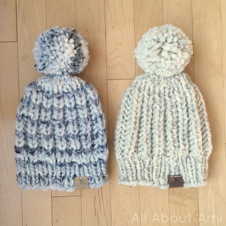 "All About Ami says, ""Once I find a pattern I love, I can't stop making them as gifts- can you relate?""  Make her fav rib hat with the free pattern by Jen of Classy Crochet and Lion Brand Wool-Ease Thick & Quick!"