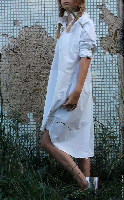 Платья ручной работы. Платье-рубашка из хлопка.. Natalia (uNatu). Ярмарка Мастеров. Свободный крой, новинка