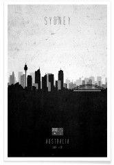 Sydney Contemporary Cityscape - Premium Poster