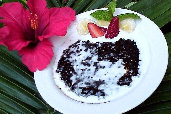Bubuh Injin - ukusni dezert sa crnim pirinčem i kokosovim mlekom! #travelboutique #putovanje #bali #hrana #food