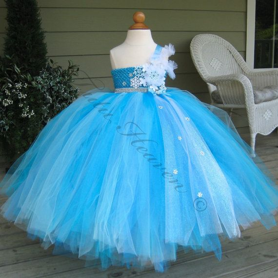 ELSA Tutu . Snow Queen Tutu Dress . Winter Wedding by TutuFactory1