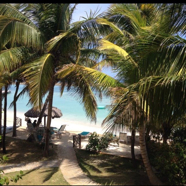 Our view from the balcony at Coyaba beach resort