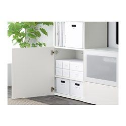 IKEA - TJENA, Box with lid, white, , Perfect for newspapers, photos or other memorabilia.Easy to pull out and lift as the box is sturdy and has cut-out handles.The included label holder helps you to create an overview to quickly find your things.