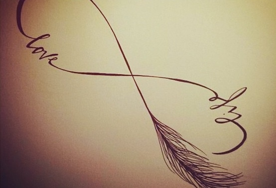 Infinity / Drawing / Life / Love / Feather