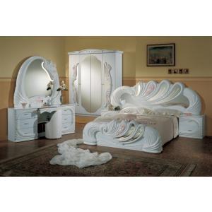 Vanity White Italian Clic 5 Piece Bedroom Set