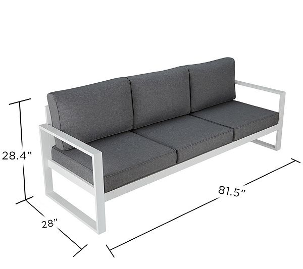 Real Flame Baltic 3 Seat Outdoor Sofa Qvc Com Welded Furniture Wooden Sofa Designs Furniture