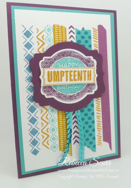 Bohemian Borders, Oh my goodies, #TGIF02, Deco Labels framelits - Rebecca Scurr - Independent Stampin' Up! demonstrator - www.facebook.com/thepaperandstampaddict