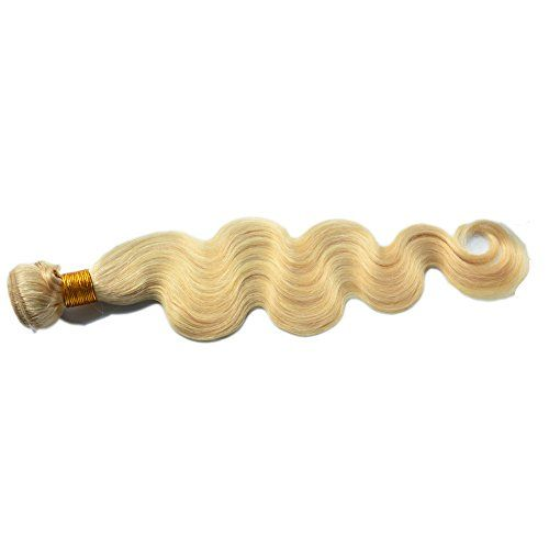 """Moresoo Tissage Bresiliens Ondules Body Waves-Cheveux Vierges blond 613# 22"""" 100grammes,1bundle hair weft Moresoo http://www.amazon.fr/dp/B00XMY8W7E/ref=cm_sw_r_pi_dp_ti2Pvb1KZFKZQ Beautiful hair is here for you."""