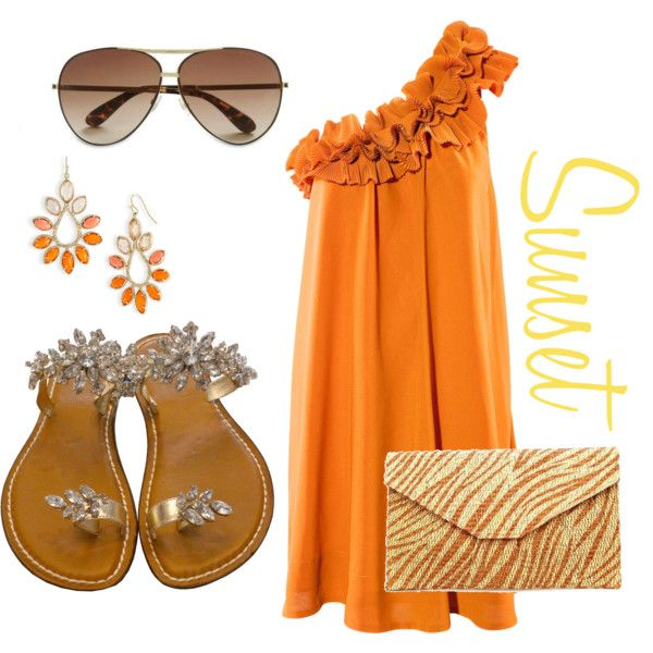 Love this dress...Sunset, created by mrsannajenk.polyvore.com