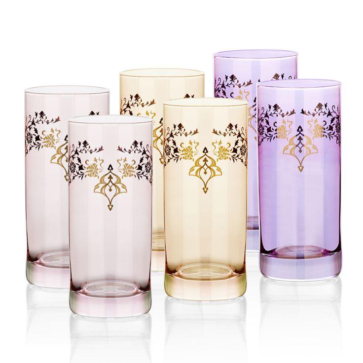 Bernardo Osmanlı Serisi Su Bardağı Seti/ Drinking Glass Set #bernardo #glass #ottoman