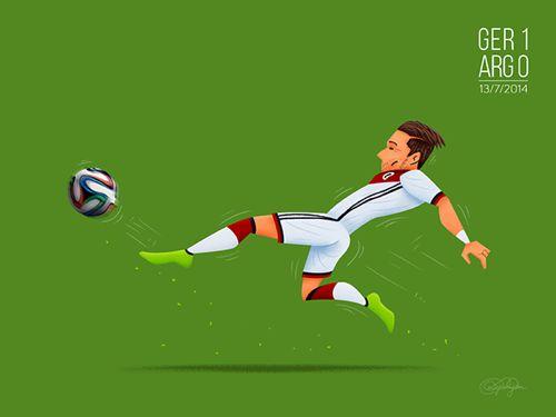 10. El gol en tiempos extras del alemán Mario Gotze, que llevó a su equipo a convertirse en la primera selección europea que gana la Copa del Mundo en tierras americanas.