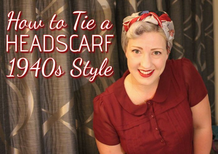 How To Tie A 1940s Landgirl Headscarf 1940s Hairstyles 1940s Fashion Hair Hair Scarf Styles
