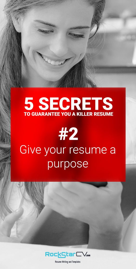 5 Secrets to Guarantee You A Killer Resume http://rockstarcv.com/resume-writing-5-secrets-guarantee-killer-resume/