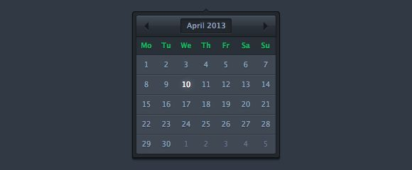 Dark Datepicker #free #download