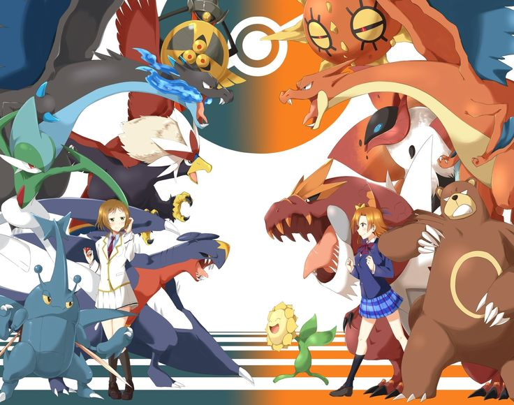 Anime Pokémon  Aegislash (Pokémon) Honoka Kousaka Solrock (Pokémon) Sunflora (Pokémon) Tyrantrum (Pokémon) Ursaring (Pokémon) Volcarona (Pokémon) Kira Tsubasa Garchomp (Pokémon) Heracross (Pokémon) Gallade (Pokémon) Braviary (Pokémon) Charizard (Pokémon) Wallpaper