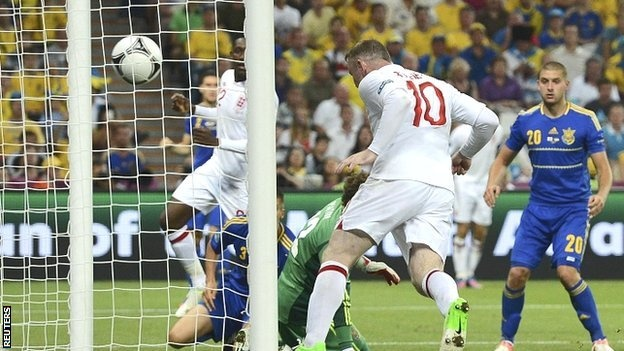 Wayne Rooney goal from another Steven Gerrard cross was the difference between the side as England claimed a hard-fought win over Ukraine to top Group D and set up a quarter-final clash with Italy.