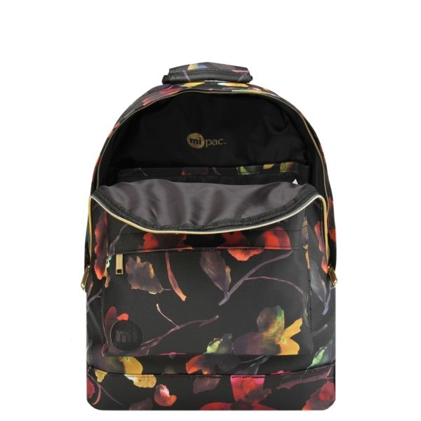 Mi-Pac Gold Backpack - Watercolour Floral Black