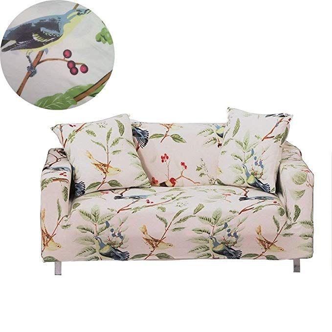 Prime Enzer Stretch Sofa Slipcover Flower Bird Pattern Chari Spiritservingveterans Wood Chair Design Ideas Spiritservingveteransorg